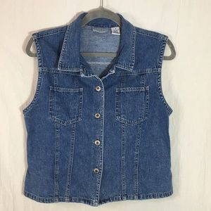 Paul Harris Denim Jackets & Coats - Paul Harris Denim Women's Vest Size M